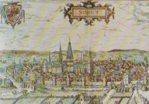 Postkarte: Soest im StÃdtebuch Braun u. Hogenberg - ca. 1975