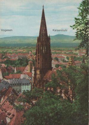 Postkarte: Freiburg - mit Blick zu den Vogesen - ca. 1970