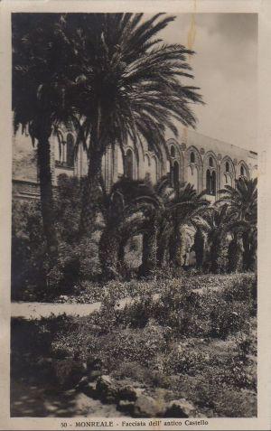 Postkarte: Italien - Monreale - Facciata dell antico Castello - ca. 1950