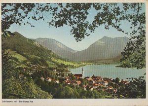 Postkarte: Schliersee - mit Brecherspitze - ca. 1965