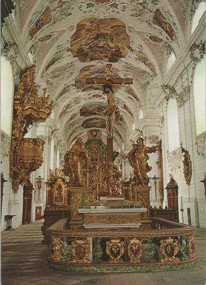 Postkarte: Ãsterreich - Stams - Stiftskirche, vor der Gruft - 1978