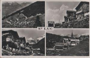 Postkarte: Schweiz - Saint-Luc - mit 4 Bildern - 1959