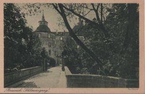Postkarte: Brauneck - Schlosseingang - ca. 1950