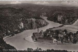 Postkarte: Kelheim - Kloster Weltenburg vom Flugzeug - ca. 1955
