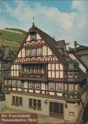 Postkarte: RÃdesheim-Assmannshausen - Alte BauernschÃnke - ca. 1975