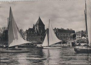 Postkarte: Schweiz - Lausanne - Chateau de Ouchy - 1955