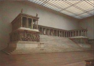 Postkarte: Staatliche Museen, Berlin - GroÃer Altar im Pergamonmuseum - 1988