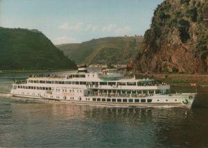 Postkarte: Loreley - Motorschiff vor Felsen - 1967