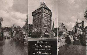 Postkarte: Esslingen - u.a. Stadtkirche - 1963