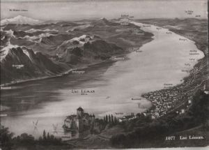 Postkarte: Schweiz - Lac LÃman - ca. 1960