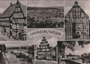 Postkarte: Hameln - 6 Teilbilder - 1955