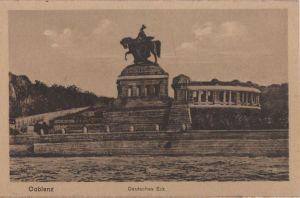 Postkarte: Coblenz - Koblenz - Deutsches Eck - ca. 1930