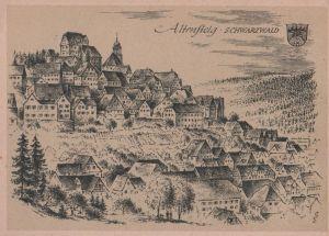 Postkarte: Altensteig - ca. 1955