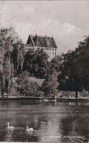 Postkarte: Illertissen - Weiher mit Schloss - ca. 1960