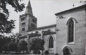 Postkarte: Schweiz - Sion - La Cathedrale - 1963