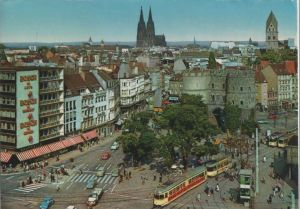 Postkarte: KÃln - Hahnentor am Rudolfplatz - 1979