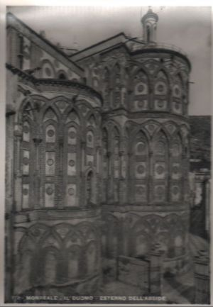 Postkarte: Italien - Monreale - Il Duomo, Esterno dell Abside - ca. 1960