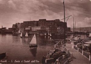 Postkarte: Italien - Neapel - Napoli - S. Lucia e Castel dell Ovo - 1941