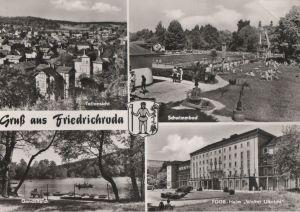 Postkarte: Friedrichroda - u.a. FDGB-Heim Walter Ulbricht - ca. 1975