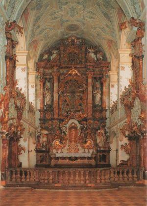 Postkarte: Polling - Stiftskirche - 1984