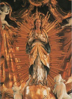 Postkarte: Schongau - Stadtpfarrkirche, Muttergottesbild - 1990