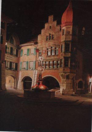 Postkarte: Schweiz - Biel, Bienne - Zunfthaus zur Waldleuten - ca. 1980