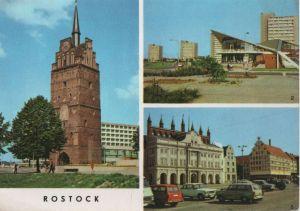 Postkarte: Rostock - u.a. SÃdstadt-GaststÃtte Kosmos - 1975
