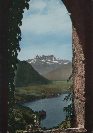 Postkarte: Schweiz - Chillon - et Dents du Midi vus de Glion - 1971