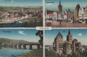 Postkarte: Trier - u.a. RÃmerbrÃcke - ca. 1920