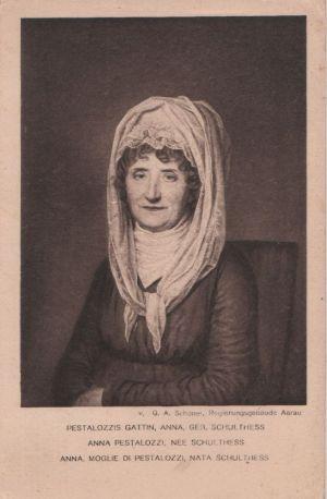 Postkarte: Gattin von Pestalozzi