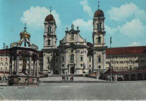 Postkarte: Schweiz - Einsiedeln - Kloster und Marienbrunnen - 1959